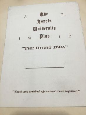 Loyola University, 1913,